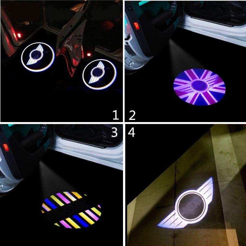 2x LED Car Door Light Dog Logo Laser Projector For Mini Cooper S One R50 R52 R53 R54 R55 R57 R58 R59 R60 Countryman Paceman