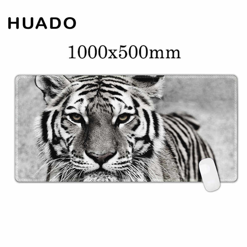 100X50cm Large Size Mouse Pad Tiger Pattern Anti-slip Natural Rubber PC Computer Gaming Mousepad Desk Mat