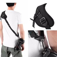 цена на Single Shoulder Sling Belt soft Quick Carry Speed houlder Sling Belt Neck Strap For Camera DSLR Black