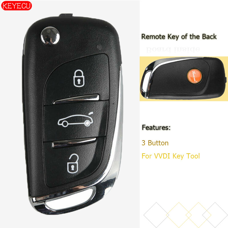 KEYECU Xhorse DS Stil (Super Fernbedienung) 3 Taste für VVDI Remote Schlüssel Werkzeug VVDI Mini Schlüssel Werkzeug, VVDI2 Supermodel Maschine
