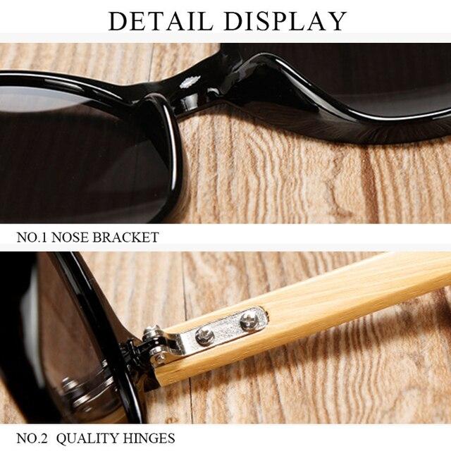 2020 nuevos anteojos de sol redondos de madera a la moda para hombres mujeres Vintage verde amarillo gafas de espejo marca de diseño vacaciones gafas de sol de Bambú