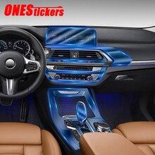 עבור BMW X3 F25 G01 X4 F26 G02 2011 2020 רכב מרכז קונסולת הילוך פנל ניווט מלא סט פנים mouldings TPU מגן סרט