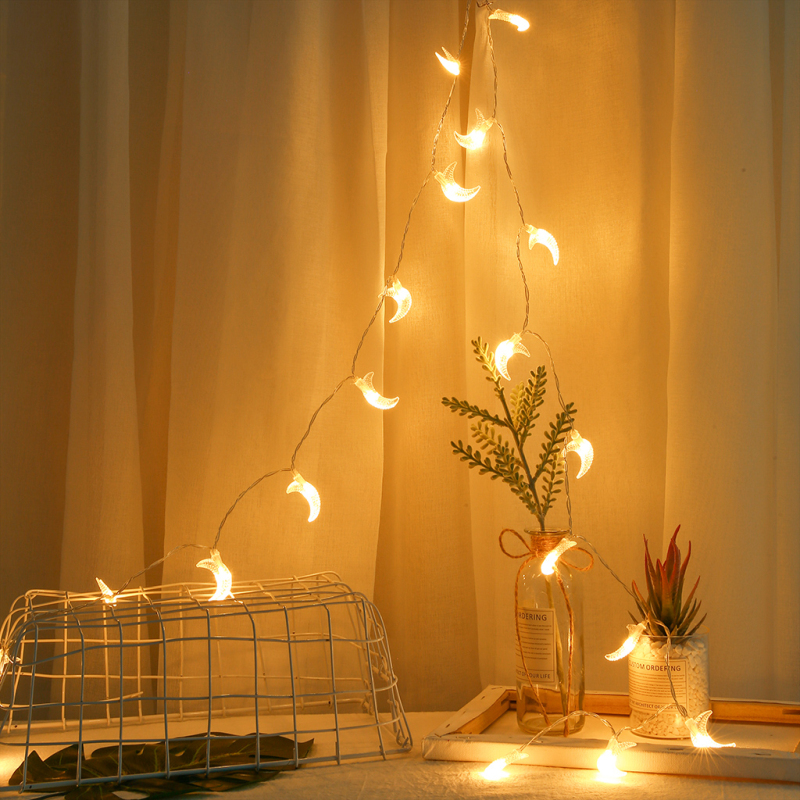 20LED Xmas String Light Garland Led Decor Outdoor Home Garden Party Wedding USB Charging Moon Lamp Bulb Christmas Fairy Lights