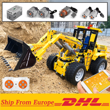 Wheel Loader Bulldozer Excavator RC Building Block Brick Set Remote Control Truck Compatible with 42030 Technic City