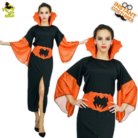 QLQ Halloween Cosplay Costume Women Orange Vampire Spider Queen Dress for Carnival Party Fancy Dress Sexy Vampire Costume Women