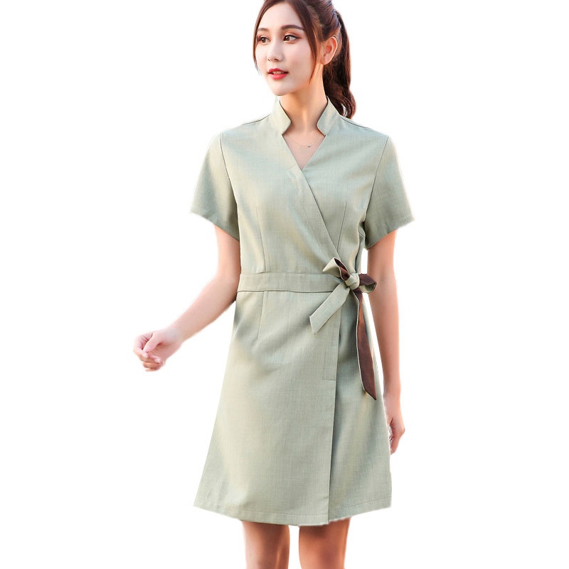 2020 Summer Fashion Design SPA Clothing Beauty Salon Work Uniforms Hospital V Neck Short Sleeve Nurse Uniform
