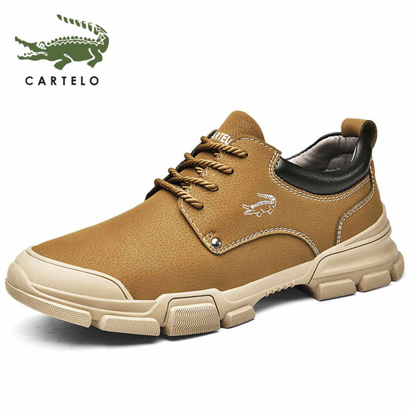 CARTELO mannen schoenen Martin laarzen mannen Britse wind korte laarzen tooling laarzen mannen trend retro обувь мужская