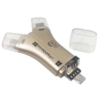 Versatile High Speed 4-in-1 SD Card Reader for All Devices Micro SD Memory Card Reader B99