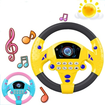 Children Steering Wheel With Sound Simulation Driving Car Toys Kids Baby Interactive Toy