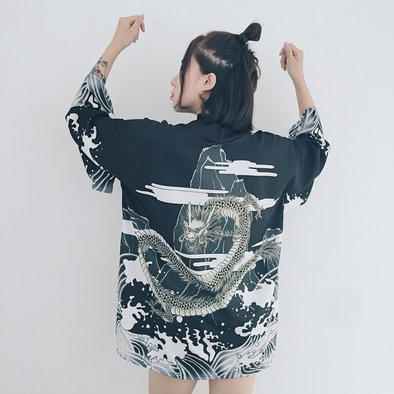 Summer 2019 Women Blouse And Tops Women Long Sleeve Cardigan Kimono Cardigan Hot Sale Traditional Japanese Kimonos