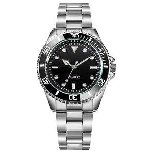 Image 2 - Orologio da uomo con cinturino in acciaio inossidabile 304 orologi da uomo con cornice girevole 40mm Masculino impermeabile