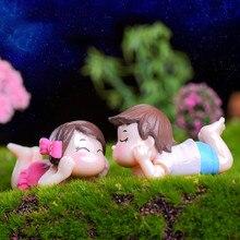 1 пара для мальчиков и девочек миниатюрная мебель украшения двора для кукольного домика для сада фей орнамент современные пейзажные игрушк...