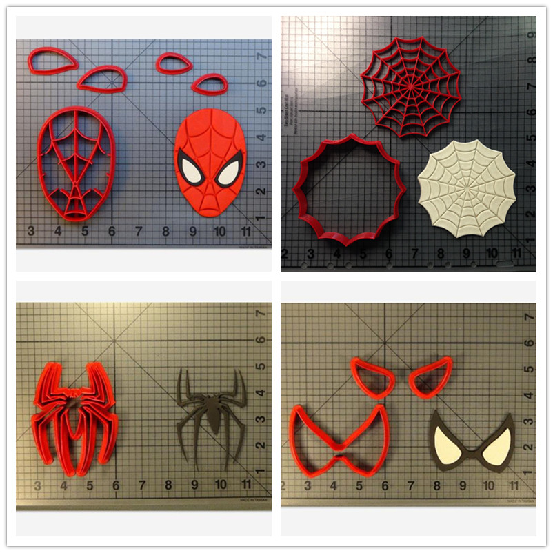 Spider Web Cookie Cutter Mold Kitchen Baking Supplies Cake Icing Decoration Mold Fudge Tool Set 3D Printing Customization