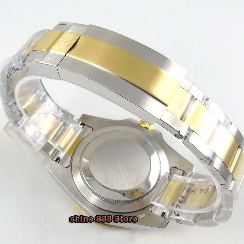 relógio pulso vidro safira cerâmica moldura ajuste eta 2836 miyota movimento