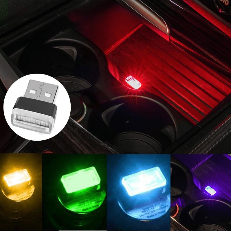 For Mercedes Benz W156 W204 W205 W210 W211 W212 W213 C E Class GLA GLK ML GL GLC GLE Car Accessories Interior Mini USB LED Light