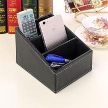 Home Desk Storage Box Tea Table Remote Control CD Stationery Cosmetics Leather PU Leather Holder Desktop Cosmetics Makeup Storag home desk storage box tea table remote control cd stationery cosmetics leather pu leather holder desktop cosmetics makeup storag