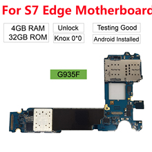 BINYEAE Original Unlocked For Samsung Galaxy S7 Edge G935F Motherboard with Full Chips,Europe Version 4G Network цена в Москве и Питере