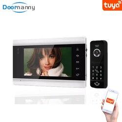 Doorniania Smart 960p wideodomofon 130 ° do domu apartament wideodomofon domofon z blokadą zdalna kontrola dostępu System Tuya