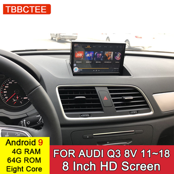 Android 9.0 4+32GB GPS Navigation For Audi Q3 8V 2011~2018 MMI 2G 3G RMC Car Multimedia Player Stereo Radio