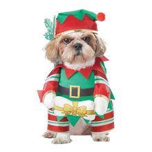 Santa Elf Pup Pet Costume Christmas Cute New Year Cat Dog Clothes Supplies цена 2017