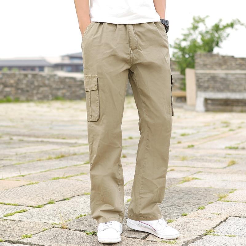 Thin Loose Casual Pants Men Plus-sized Large Size Gymnastic Pants Bib Overall Lard-bucket Pants