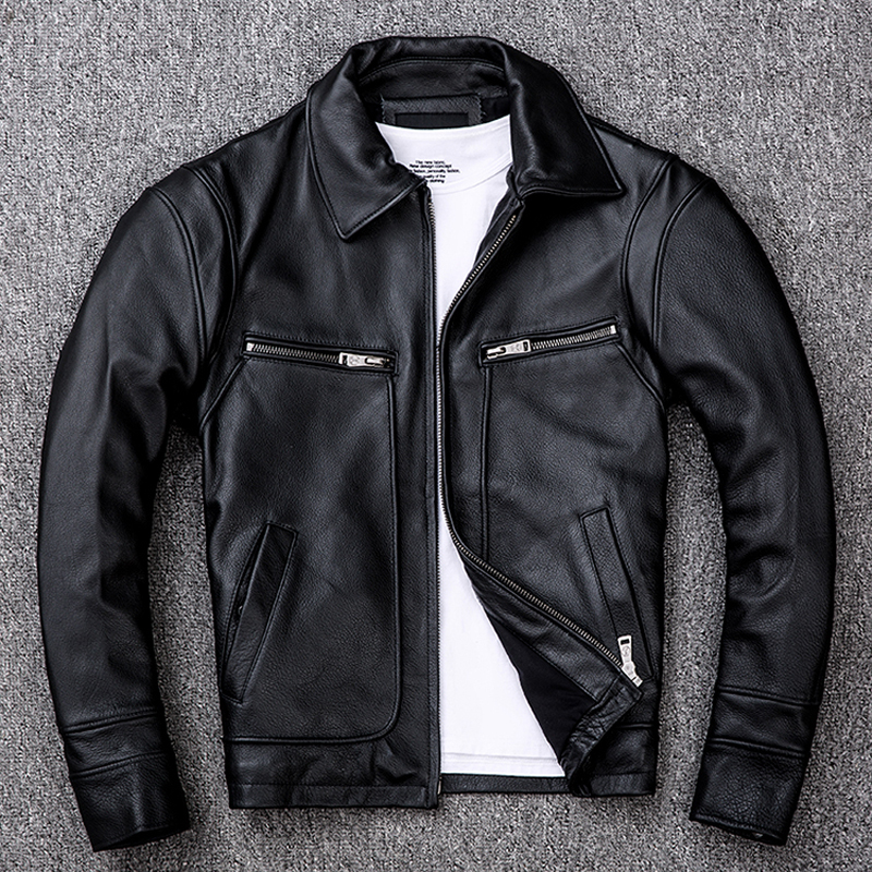 Autumn Winter Genuine Leather Jacket Men Clothes 2020 Real Cow Leather Jackets Plus Size XXXXL Coat Deri Ceket 533 ZL403