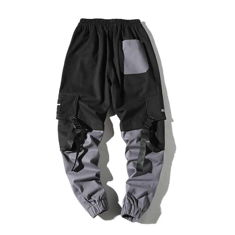 Hip Hop Potlood Broek Mannen Militaire Cargo Broek Streetwear Mannen Enkellange Broek 2019 Lente Mens Tactiek Broek Lint