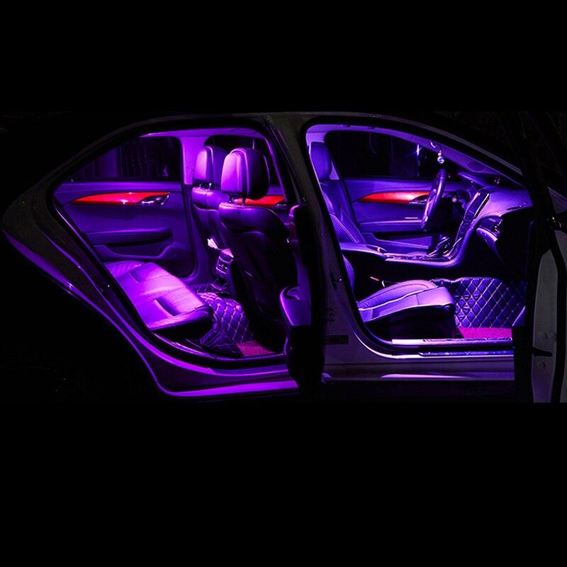 6pcs error free auto led bulbs car interior lights kit for skoda rapid 2015 2016 2017 2018 2019 dome reading lights trunk lamp