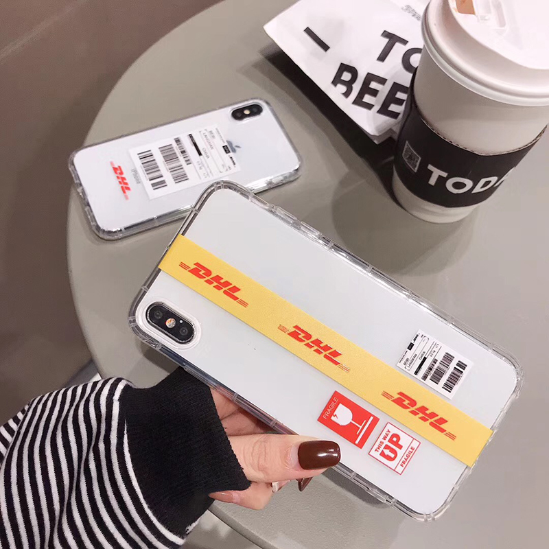 Hot luxury street trend stripe label <font><b>white</b></font> phone <font><b>case</b></font> for <font><b>iphone</b></font> 11 X XS PRO MAX XR <font><b>6</b></font> 6S 7 8 plus yellow clear tpu cover coque image