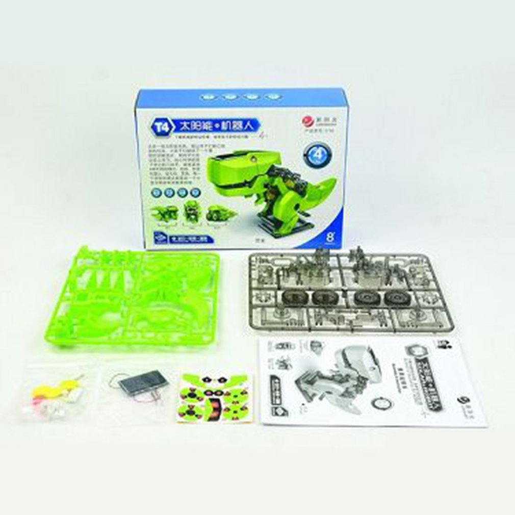 Solar Four-In-One Robot For Boys Girls Gift Toy Educational Chirldren Toysdevelop Kid'S Intelligence