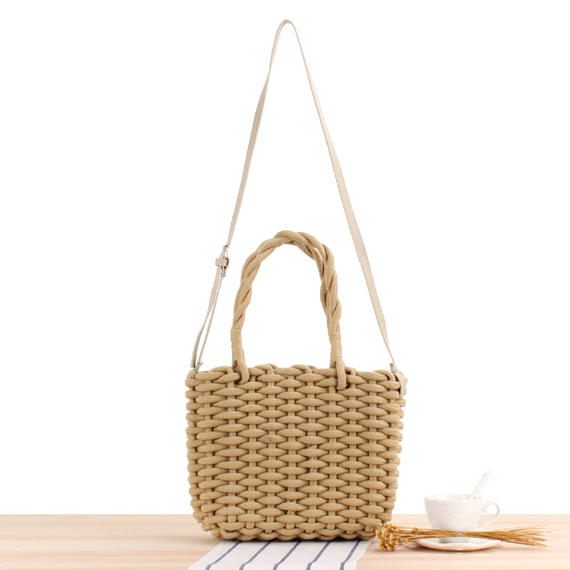 New Octopus Woven Bag Simple Weaving Tassel Bag Shoulder Beach Bag Bucket Female Bag