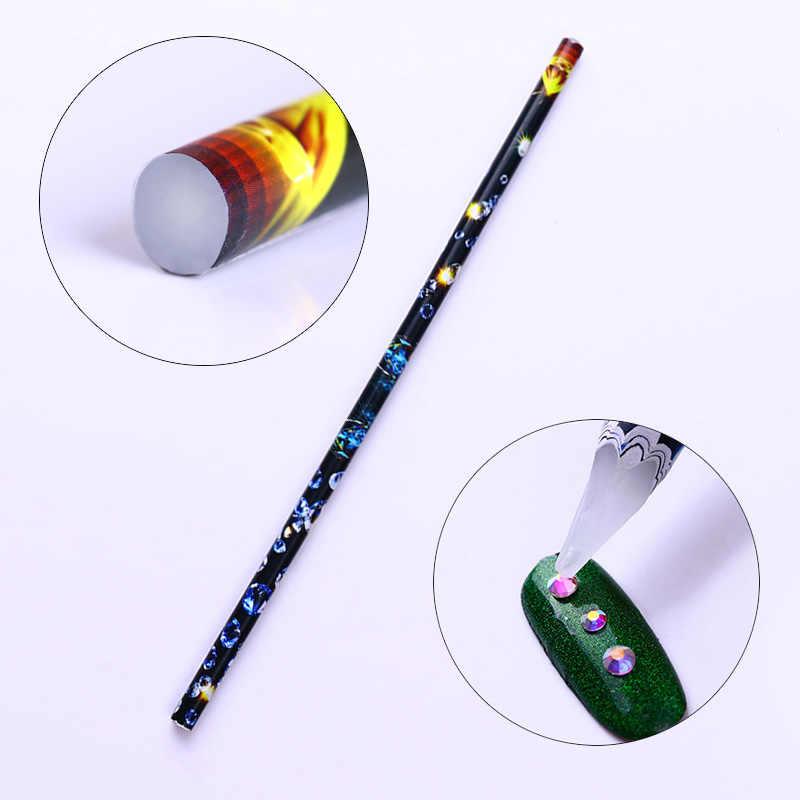 שעווה חמה עט ריינסטון פיקר מנקדים עט בקלות להרים מניקור Rhinestones הרבעה 3D נייל קישוט פיקר ציפורניים אמנות כלים