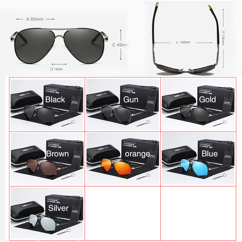 2020 HD Polarized UV 400 men's Sunglasses brand new male cool driving Sun Glasses driving eyewear gafas de sol shades with box 5