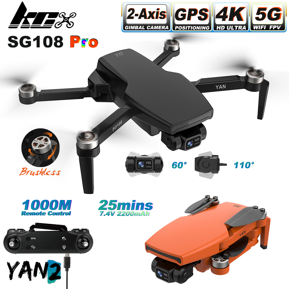 KCX SG108 Pro 1Km Long Distance 25mins 2-Axis Gimbal Camera Drone 4K GPS 5G WiFi FPV Professional Brushless Dron PK SG906 PRO