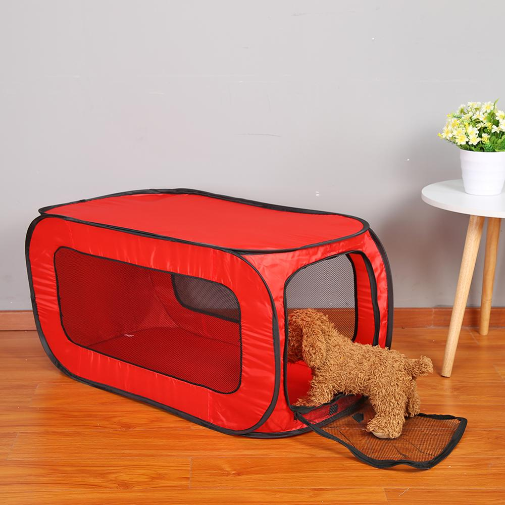 <font><b>Portable</b></font> Folding Rectangular Pet Tent <font><b>Dog</b></font> Cage Playpen Fence Puppy <font><b>Kennel</b></font> Pet Cat Training Toy for Cat Rabbit Animal Play Tunnel image