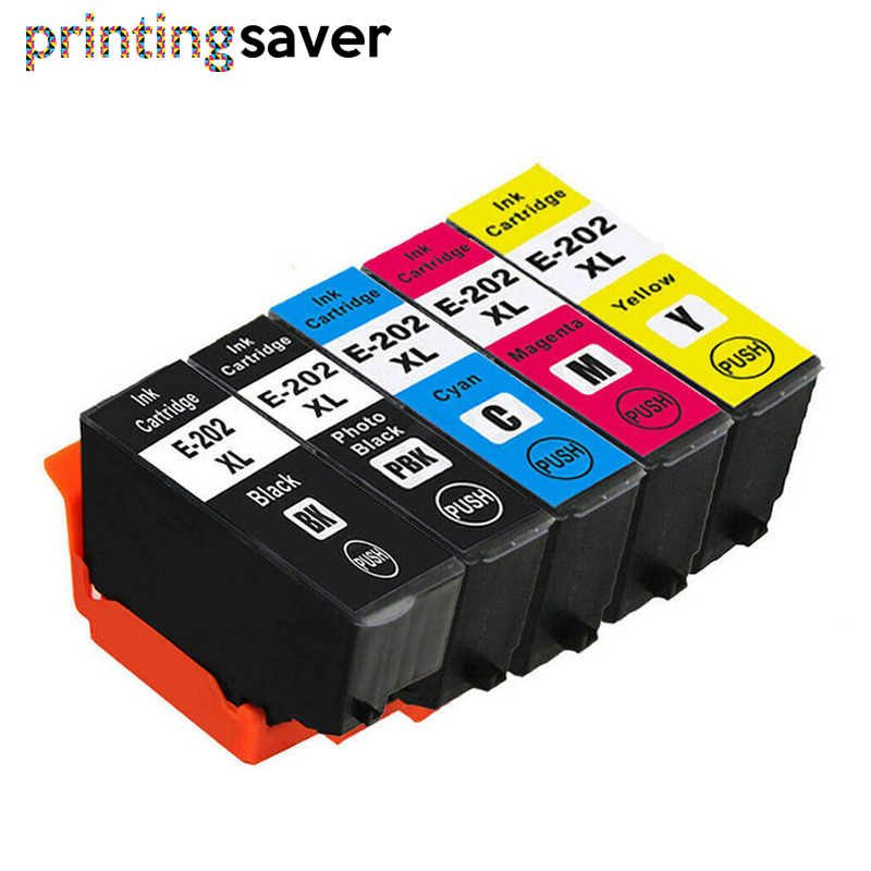 5 pcs <font><b>202XL</b></font> 202 Compatible Ink Cartridge For <font><b>Epson</b></font> <font><b>202XL</b></font> Expression premium XP6000 XP6005 XP-6000 XP-6005 Printer image
