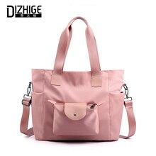 DIZHIGE Brand Large Capacity Waterproof Nylon Women Handbag High Quality Crossbody Bag For Solid Multi-pockt Shoulder
