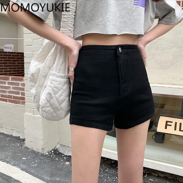 Women Denim Shorts Stretch Slim Push Up Hips Elastic Cotton Straight Short Jeans Female Casual Summer Woman Summer Plus size 3