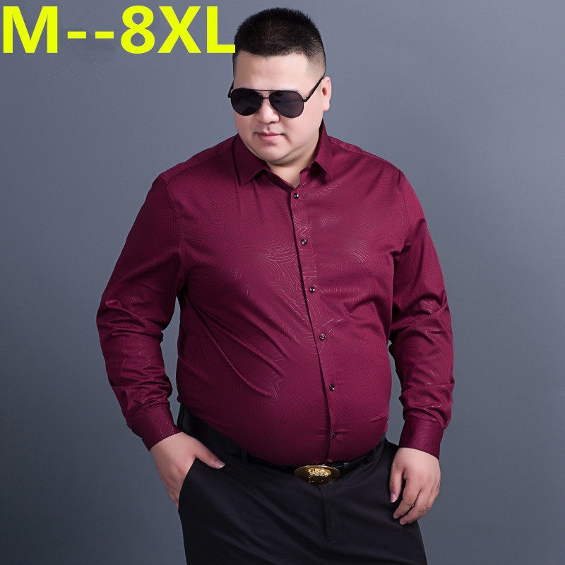 10XL 8XL 6XL 5XL  Casual Shirts Men Fashion Long Sleeve Plaid Shirt Camisa Masculina Men Shirt Solid Color Shirt Male Brand