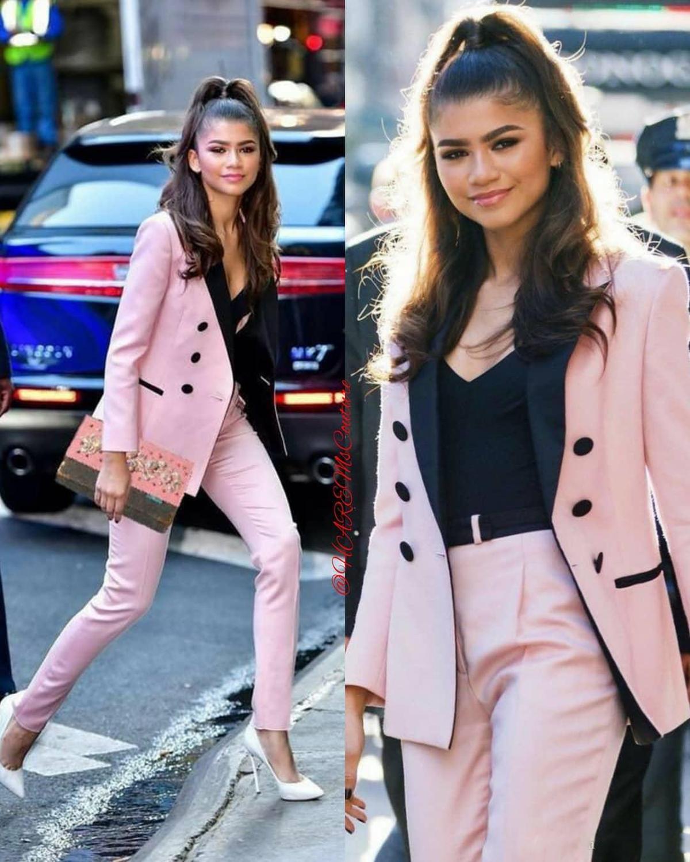 Light Pink 2020 Mother Of The Bride Pant Suits Women Business Suits Black Peaked Lapel Tuxedo Blazer For Wedding(Jacket+Pants)