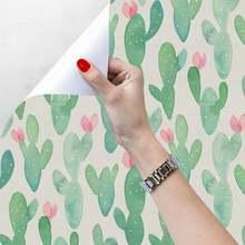 Самоклеящиеся обои с изображением кактуса и растений ПВХ Стикеры