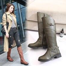 Женские ботинки Осень зима новый стиль мартинсы на толстом каблуке