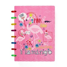 Creative Stationery Flamingo Heart Notepad A5 Notebook Mushroom Hole Color Ring Buckle Binding Printing Student Supplies