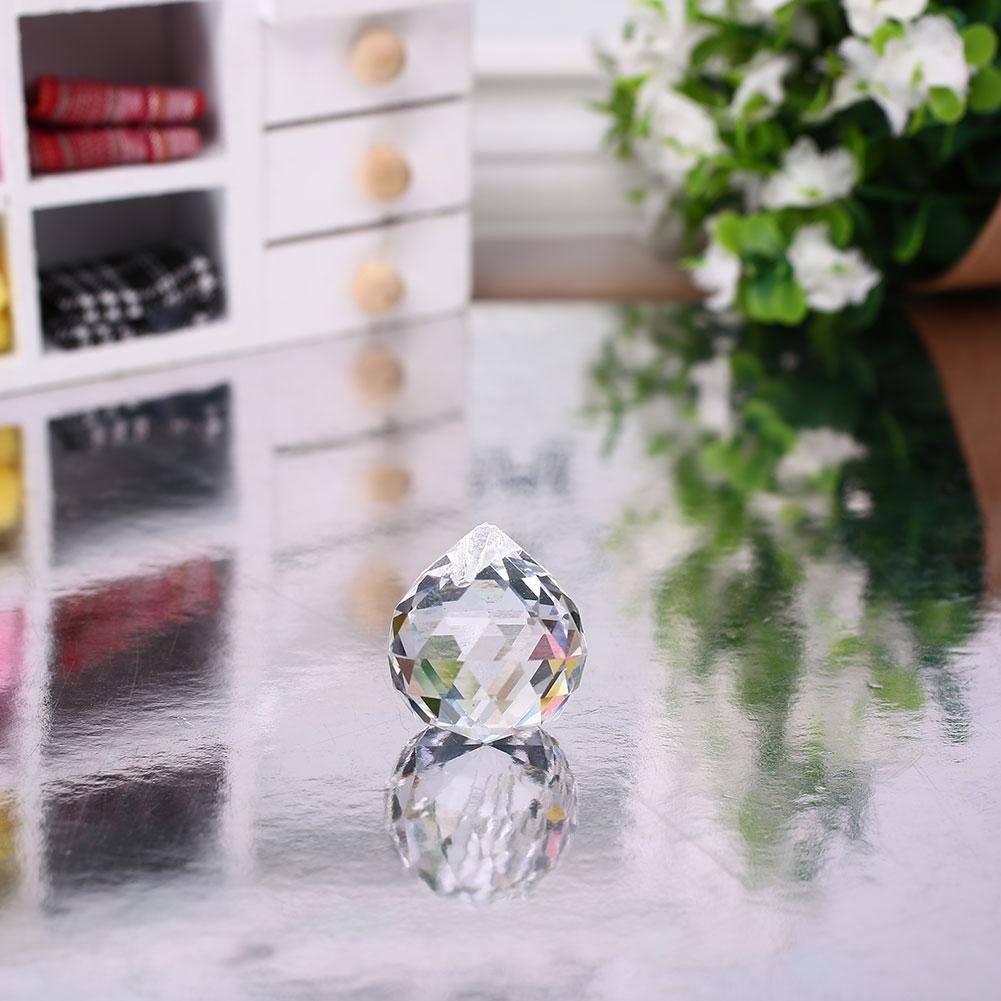 Pendent Sun Catchers Crystal Prism Prism Prism Ball Decoration Suncatcher Clear Pendant Lamp 20mm 20mm Decor Chandelier