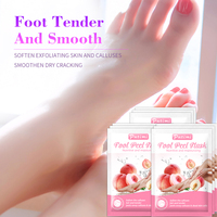 Putimi Peach Feet Mask Remove Dead Skin Cuticles Heels Socks for Pedicure Exfoliating Foot Mask Foot Peeling Mask Foot Care 2