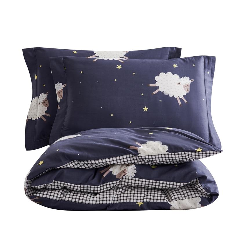 Cotton Parure Duvet Set Bedding Set Bed Set Boho Bed Sheets Bed Cover Sets Duvet Cover Queen Pillowcase Flat Sheet 1 Pcs