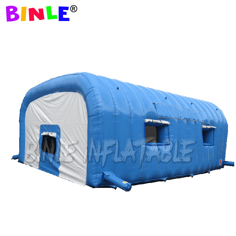 Custom white outdoor waterproof giant inflatable tunnel <font><b>tent</b></font> entrance arch <font><b>car</b></font> <font><b>garage</b></font> <font><b>tent</b></font> with removeable windows for sale image