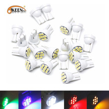 200pc 1206 8SMD T10 W5W 194 168 192  Auto Car Wedge Marker LED Clearance Light Tail Side bulb Lamp Styling White blue red 2 x led car clearance parking lights t10 w5w 168 192 led car side wedge light 6000k white blue lamp bulb car styling 12v