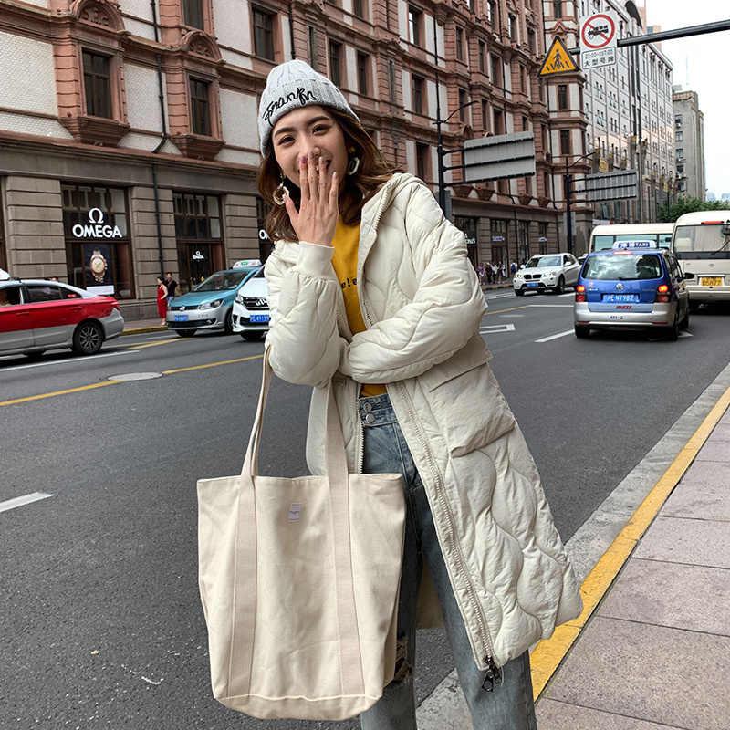 Kleding Lange Fonds Gemakkelijk Down Katoen Vrouw Katoen gewatteerde Jas 2019 oversized Winter Kleren Terug Seizoen Speciale Selling