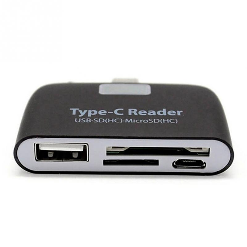 Multifunction Memory Card Adapter USB 3.1 Type C USB-C TF SD OTG Card Reader For Mac-book Phone Tablet Cards Readers
